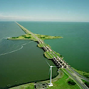 Afsluitdijk as Dutch battery power